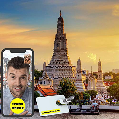 7/15 Days Thailand/Bangkok Travel SIM Card   Premium Unlimited Data   Plug-n-Play   Network by AIS Thailand (7 Days)
