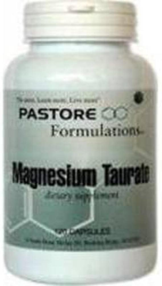 Pastore Formulations - Magnesium Max 68% OFF Taurate caps 120 481 Max 81% OFF mg