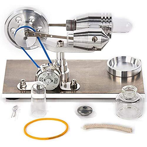Basage Motor de Aire Stirling Modelo de Motor Generador de Electricidad Equilibrio Motor Stirling Juego de Experimentos CientíFicos