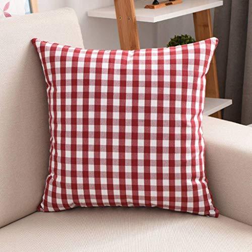 YAALO Decoratieve kussen, 2 instellingen, rooster, sofa, woonkamer, kussen, nachtkastje, grote rugleuning, metalen ritssluiting, aanbieding comfortabele rugsteun