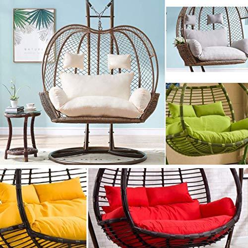 ZHAS Hanging Egg Swing Chair Pads, Double Egg Hängesessel Pads für Indoor Outdoor Garden Hängekorb Stuhl, 110x150cm (Farbe: Weiß)(Ohne Stuhl)(Ohne Stuhl)