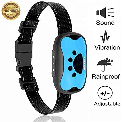 MASBRILL Collar antiladridos para Perros pequeños y medianos - Sonido/vibración Perro Barking...