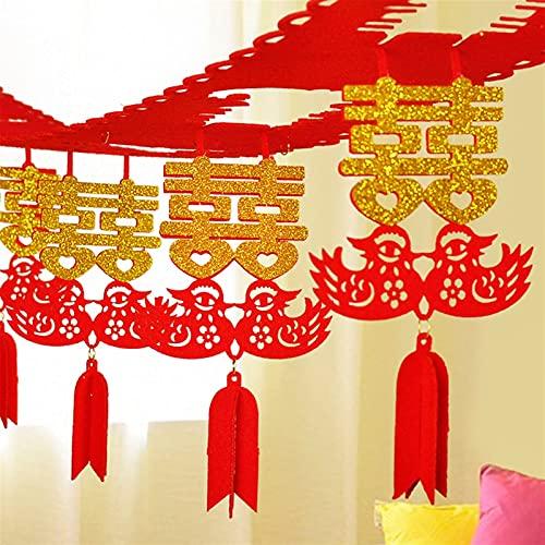 Estilo destacado Fiesta festiva Decoración de la boda Nueva decoración de la boda Guirnalda China China Hi Word Partido Felicidad Partido Hogar DIY Accesorios No tejidos Love Streamers 3 metros de lar