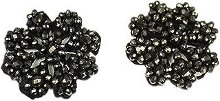 black flower shoe clips
