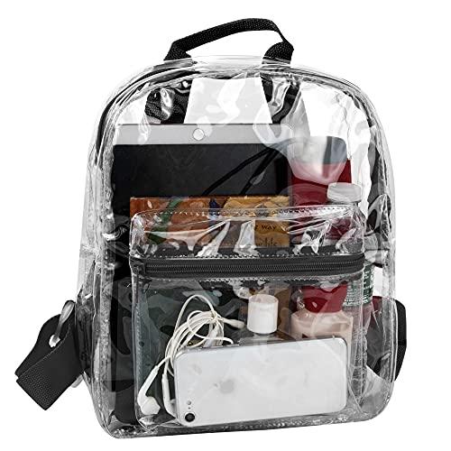 Madison & Dakota Water Resistant Clear Mini Backpacks