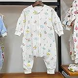 B/H Recién Nacido Manta Envolvente,Edredón antideslizamiento de algodón para bebés,Saco de Dormir de Pierna Dividida para habitación con Aire Acondicionado-D_80CM,Saco de Dormir para Bebé Confortable