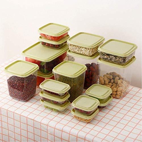 GONGFF Cajas de Almacenamiento de Alimentos Contenedor de Granos Cocina Sellador Refrigerador Nevera Bocadillos Organizador de tarros