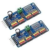 Electrely 2 Pezzi PCA9685 16 Canali 12 bit PWM a Servo Motore Driver Modulo IIC Interfaccia per Arduino Robot e Raspberry Pi