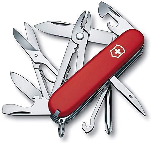 Victorinox Tinker Deluxe Couteau d'Officier, Rouge, 91 mm