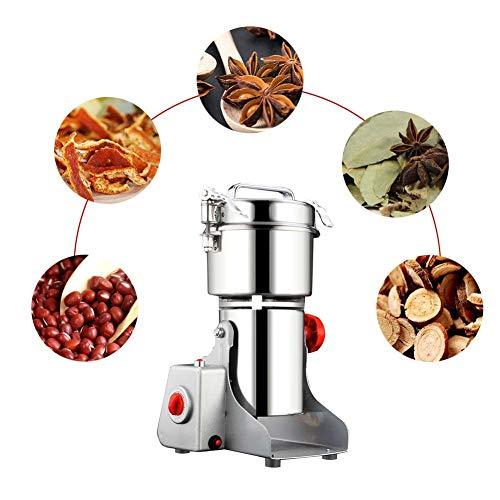 Rziioo Grain Grinder elektrische Mühle Nüsse Kaffee Kräuter Getreide Schleifmaschine Mehl High Speed Home Küchenwerkzeug Miller (800g)