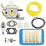 Butom Carburetor+Air Filter+ Gasket+Fuel Line Tune Up Kit for C1M-K77 Echo PB-403H PB-403T PB-413H PB-413T PB-460LN PB-461LN Backpack Blower PB-610 PB-620 PB-620H PB-620ST PB413 PB-400 Carb