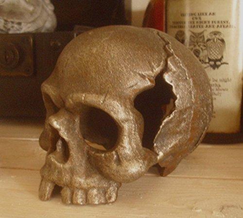 Unbekannt DEKO SCHÄDEL Totenkopf GUSSEISEN Gothic Mittelalter Halloween HALLOWEENDEKO NEU