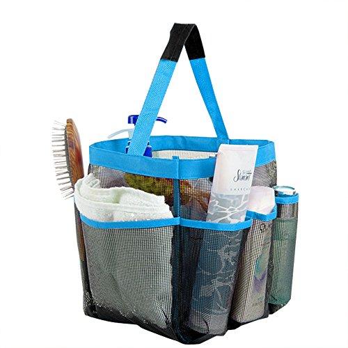 Winbang Borsa da doccia, Quick Dry Hanging Mesh Shower Tote Caddy Organizer borsa da bagno con 8 tasche per Dorm Gym Camp Travel