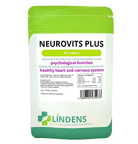 Neurovits 3-Pack x 270 - Vitamin B-12 500mcg B-1 B-6 & Folic Acid B1 B6 B12