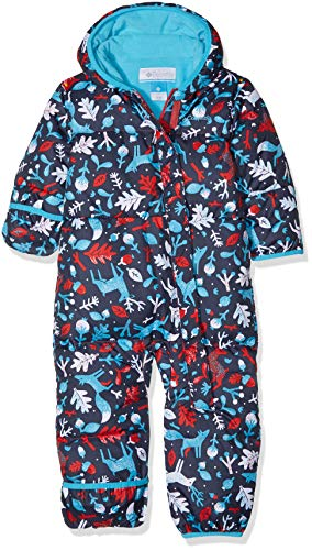 Columbia Schneeanzug für Kinder, Snuggly Bunny Bunting, Polyester,  - Rot, Blau (Red Camellia Deers, Atoll) - 12/18 months