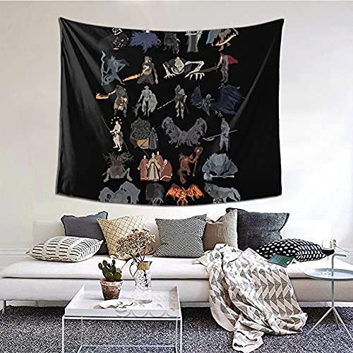 Dark Souls3-すべてのボスタペストリーブティックウォールタペストリー美的家の装飾タペストリー60 * 51インチ