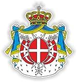 1 adesivo impermeabile in vinile con stemma di Malta, 30 cm