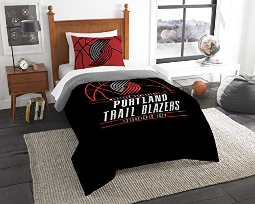 The Northwest Company Officially Licensed NBA Portland Trail Blazers Reverse Slam Full/Queen Comforter and 2 Sham Set