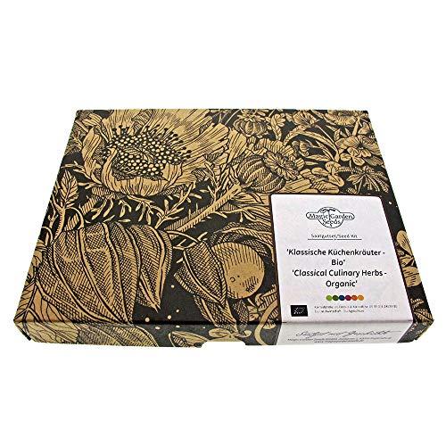Classiche erbe aromatiche biologiche - set regalo di semi con 5 essenziali erbe aromatiche biologiche