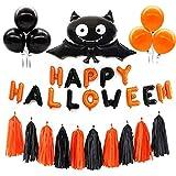 LQH 31 Paquete de Halloween Globos Conjunto Bat borlas Inflable Happy Halloween