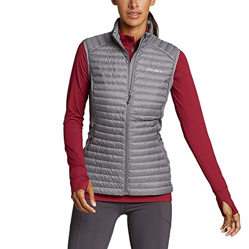 Eddie Bauer Women's MicroTherm 2.0 Down Vest, Carbon HTR Regular L