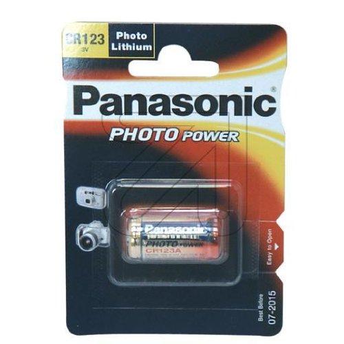 Panasonic photo cR123AL/1BP-batterie