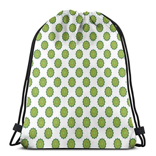 Bolsa de viaje con cordón de Bapa Sport Gym Cinch Bag para mujeres, hombres y niños, diseño de chakra con flores y diseño de círculos arcaicos