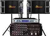 IDOLpro 1300Watts IP-3800 II Mixing Amplifier & IPS-650 Speaker Plus Wireless Mic Karaoke System- Free Speaker Cables & Speaker Stands & Mic Windscreens
