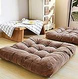 GGYDD Gepolsterte Cord Sitzkissen,große Quadratische Sitzpolster Plüsch Tatami Futon Bodenmatratze Bay-Fenster Matte Yoga Meditation Pad-f 55x55cm(22x22inch)