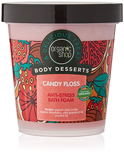 Organic Shop Espuma de Baño Anti-Estrés Algodón de Azúcar - 450 ml