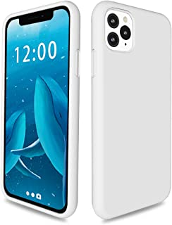 SPYGEM Liquid Silicone Case for iPhone 11 Pro 5.8, Drop-Proof Shockproof Protective iPhone 11 Pro Phone Case Full Body Gel Rubber Bumper Cover with Soft Microfiber Lining Cloth, White