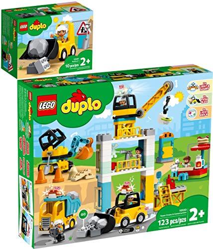 Duplo Lego 2er Set 10930 10933 Radlader + Große Baustelle mit Licht und Ton