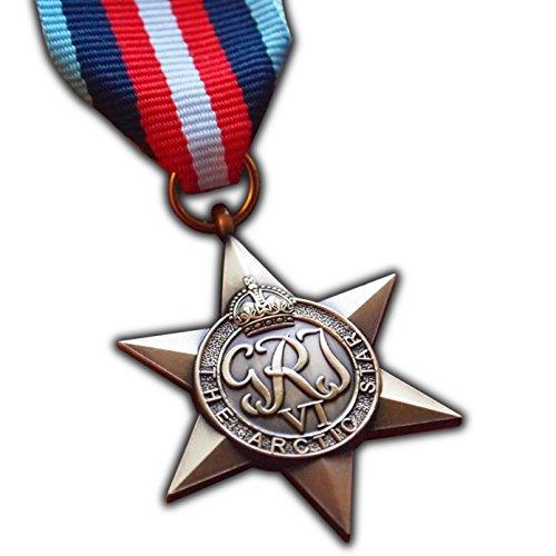 Trikoty El ártico Star Militar Medalla WW2Commonwealth Premio para | ejército Militar británica | Azul Marino | | réplica de RAF Convoy George Vi ártico Operaciones