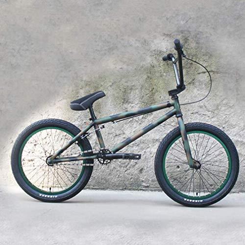 Fitness Sport im Freien 20 Zoll BMX Bikes Fahrrad Hochfester Chrom-Molybdän Stahl BMX Rahmen 3-teilige 8-Tasten-Kurbel mit U-Bremse und 3D-geschmiedeter Aluminiumlegierung