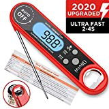 Instant Read Meat Thermometer, Olivivi Waterproof Ultra Fast LCD Cooking Thermometer, Digital Food...