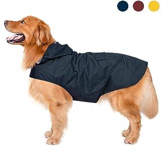 Zellar Impermeable para Perros con Capucha y Collar Agujero