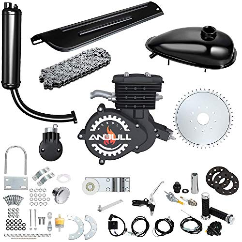 Anbull 80CC Bicycle Engine Kit, Bike Bicycle Motorized 2 Stroke Petrol Gas Motor Engine Kit for 26' 28' Bike (Black)