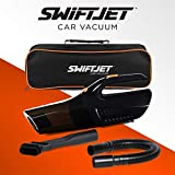 SwiftJet Car Vacuum Cleaner - 2020 Model - High Powered 5 KPA Suction Handheld Automotive Vacuum - 12V DC 120 Watt - 14.5' Cord - Multiple Attachments