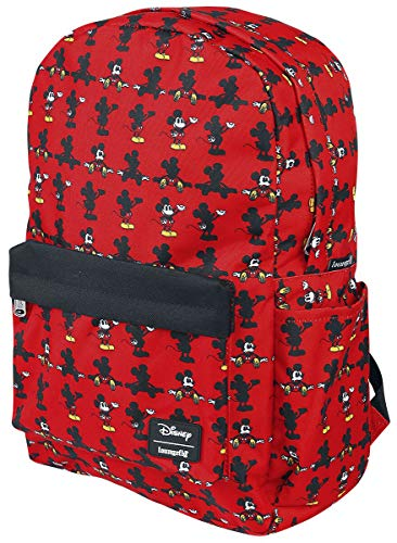 Loungefly Mickey Mouse Parts AOP Nylon Backpack