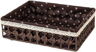 JJZXT Boîte de Rangement Boîte de Bureau en rotin Tissu Tissu Tissu Boîte de Rangement Salon Panier de Rangement (Color : ...