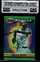 1994 Topps Finest #208 Albert Belle Authentic Autograph Signature Az133 - Baseball Slabbed Autographed Cards