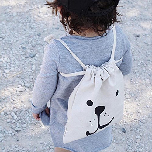 sac de rangement en toile 2PC pour les jouets, sac de lessive à cordon pour...