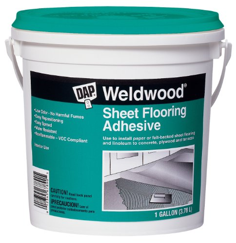 DAP 25178 Sheet Gallon Flooring Adhesive, White