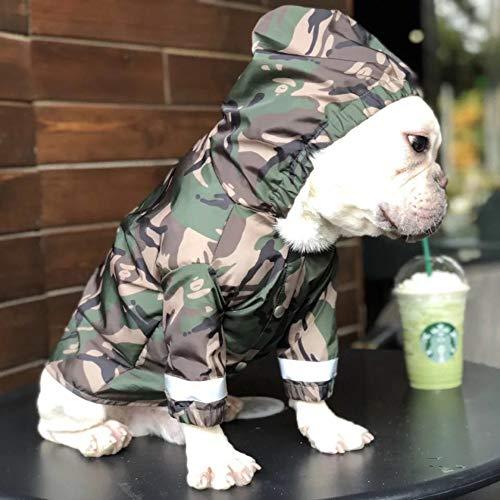Yuanou Hunderegenmantel Französische Bulldogge Kleidung Mops Kleidung Haustier Regenjacke wasserdichte Kleidung für Hund Reflektierende