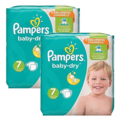 Couches Pampers - Taille 7 baby dry - 60 couches bébé