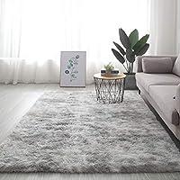 柔らかく厚いカーペットのリビングルームのベッドルームエリアラグマット、居間の家の装飾のための毛むくじゃらのぬいぐるみカーペット,A-160X230cm