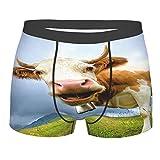 Milk Cow Pasture Meadow Grassland - Calzoncillos tipo bóxer para hombre con estampado 3D