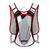 Lixada 5L Mochila con Paquete de hidratación con 2L Bolsa de Agua, Chaleco de hidratación Transpirable Ultraligero para Correr al Aire Libre