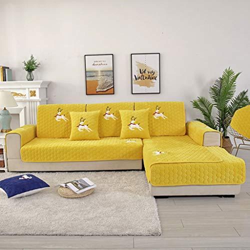Jiaan bankovertrek, sofaovertrek, gewatteerd, bedrukt, bescherming voor hoekbank, links, waterdicht, voor kinderen en huisdieren