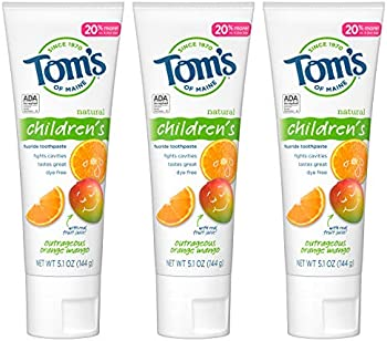 3-Pack Tom's of Maine Natural Children's Fluoride Toothpaste 5.1 Oz